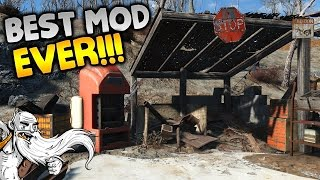 """THIS IS THE BEST SETTLEMENT MOD...EVER!!!"" - Fallout 4 Sim Settlements Mod Gameplay Let"