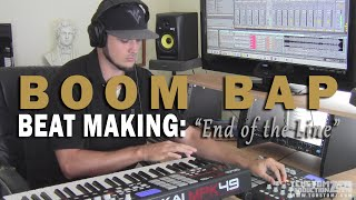 "Boom Bap Piano & Strings Sample Hip Hop BEAT MAKING VIDEO: ""End of the Line"" (prod. by TCustomz)"