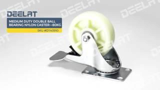 Medium Duty Double Ball Bearing Nylon Caster--80kg