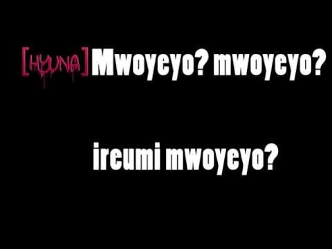4MINUTE-'WHAT'S YOUR NAME?' (lyrics) HD