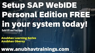 Getting started with SAP WebIDE for Fiori Part 1 | WebIDE Personal Edition | Create Your Fiori App