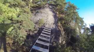 preview picture of video 'Auf dem Nonnensteig durchs Zittauer Gebirge'