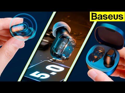 Бюджетные беспроводные Bluetooth наушники Baseus WM01 с Алиэкспресс