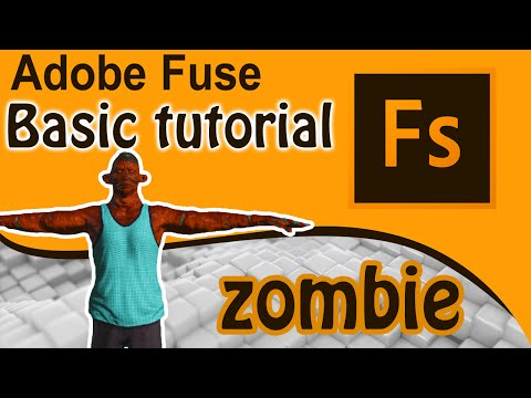 Adobe Fuse CC Tutorial – Create custom 3D characters [How to create a Zombie]