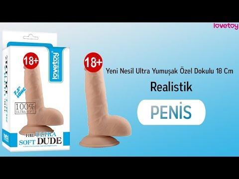 Yeni Nesil Ultra Yumuşak Özel Dokulu 18 Cm Realistik Penis-1084