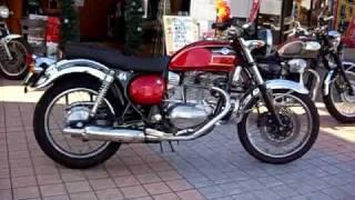 美人ライダー 美女 Kawasaki ESTRELLA RS 250 バイク動画Motorcycle