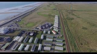 Aerial video of Golden Sands, Borth, Ceredigion, Wales