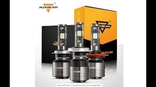Auxbeam T1 Series H11 Temperature Control LED Headlight Bulbs Review