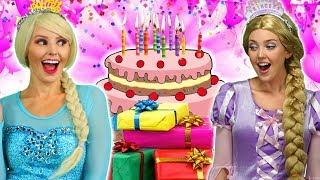 DISNEY PRINCESS Birthday. (With Elsa, Rapunzel, Belle, Cinderella And Anna) Totally TV