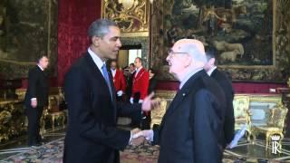 Il Presidente Napolitano incontra il Presidente degli Stati Uniti d