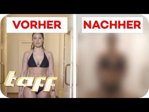 OHNE SPORT flacher Bauch & schlanke Beine? Fett-Weg-Gürtel im Check | taff | ProSieben