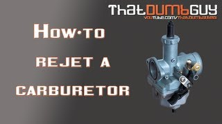 How to re-jet a carb / carburetor on a motorcycle