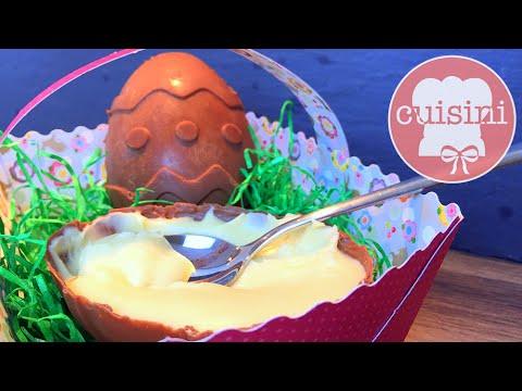 Milka Löffeleier selber machen | Schokoladen Ostereier mit Milchcreme Füllung - CUISINI