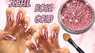 REAL ROSE GOLD MIRROR POWDER New Arrival Show Chrome Effect HOW TO