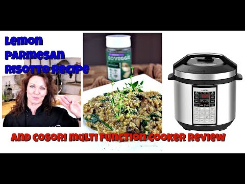 Lemon Parmesan Risotto & COSORI Multi Function Cooker Review || Gretchen's Vegan Bakery