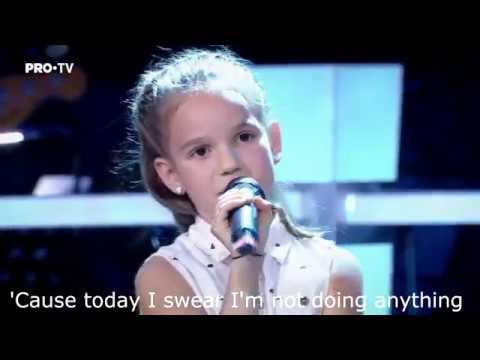 Bruno Mars - Lazy song lyrics (The Voice Kids Romania edition)