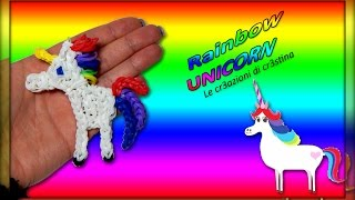 Unicorno Arcobaleno   My Little Pony   Cavallo con Elastici RAINBOW LOOM Tutorial
