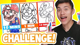 10 MINUTES, 1 MINUTE & 10 SECONDS DRAWING CHALLENGE!!!