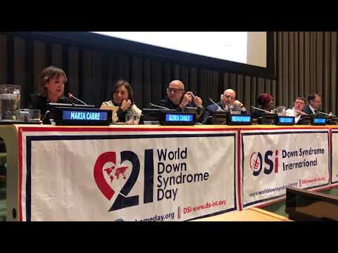 Watch video Aura Fundación en la sede de la ONU de Nueva York