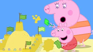 Peppa Pig Official Channel   Peppa Pig's Giant Sandcastle