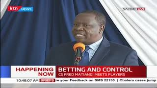 Betting and Control: CS Matiang\'i meets players
