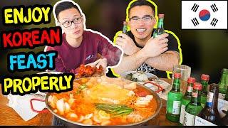 How to PROPERLY enjoy a KOREAN FEAST