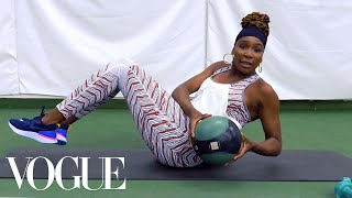 Venus Williams's 7 Best Workout Moves for a Grand Slam Body | Vogue - Video Youtube