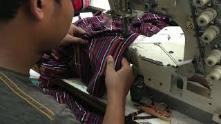 how to sewing a stripe tshirt | stripe tshirt sewing Process layout