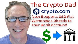 Crypto.com Announces US Dollar Fiat Withdrawals Directly to Your Bank Account