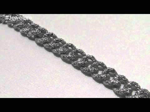 Silver Tone Cubic Zirconia Fashion Bracelet Curb Link Bracelet for Women