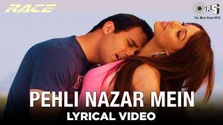 Pehli Nazar Mein [Lyrical Video] Atif Aslam   Saif A Khan, Bipasha B, Akshaye K, Katrina K   Tips