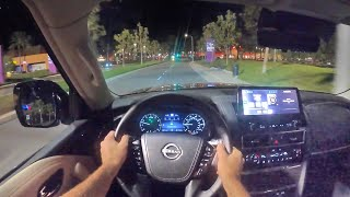 2021 Nissan Armada 4x4 Platinum POV Night Drive (3D Audio)(ASMR) by MilesPerHr