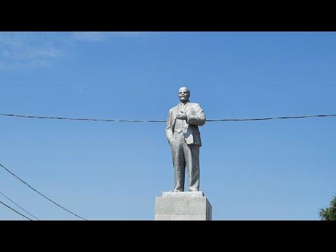 Реконструкция парка в станице Мечетинская Зерноградского района.Памятник Ленина .