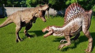NEW CARNIVORE DINOSAURS SIZE Vs OLD CARNIVORE DINOSAURS SIZE - Jurassic World Evolution Update 1.4