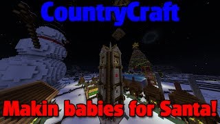 preview picture of video 'Minecraft :: Making Babies for Santa! [Christmas Village]'
