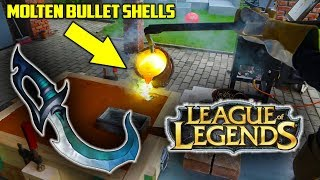 Casting Brass LEAGUE OF LEGENDS DAGGER from BULLET SHELLS and Mirror Polish It !