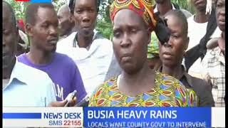 Residents in Busia count losses as rain destroys crops and sweeps away their livestock