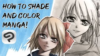 How to Shade and Color a Manga girl