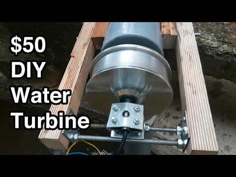 DIY Powerful and Portable Water Turbine for $50