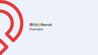 Zoho Recruit - Vídeo