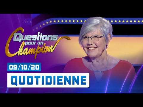 Emission du Vendredi 09 Octobre 2020 - Questions pour un champion