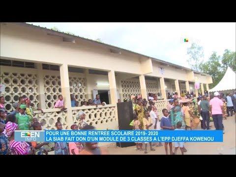 La SIAB fait don d'un module de 3 classes à EPP Djèffa Kowenou La SIAB fait don d'un module de 3 classes à EPP Djèffa Kowenou
