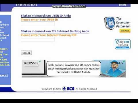 Cara Ganti Pin Internet banking Bca