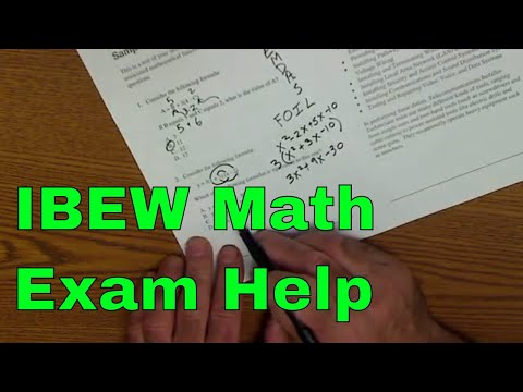 Math Exam, Qualifying for Apprenticeship in the Electrical Industry ...