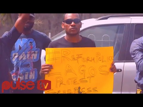 Highlights Of The #endsars Protest Tagged Police Brutality Must Stop In Lagos | PulseTV