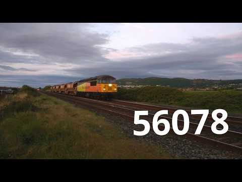 Colas Rail 56078 passes Prestatyn with Network Rail Autoball…