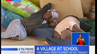 Langata fire victims currently camped at Ngei primary school
