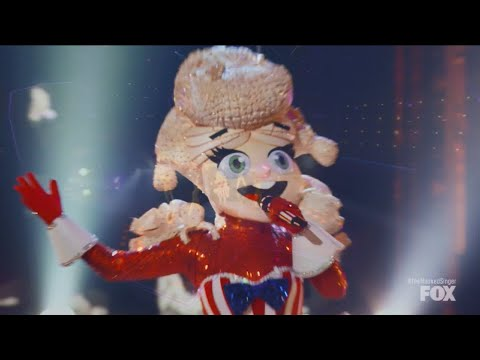 Masked Singer 4 Premiere Popcorn sings What About Us
