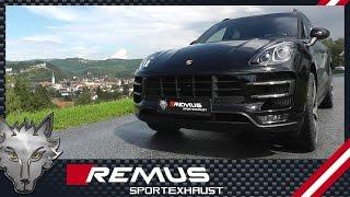 Video: Remus Komplettanlage ab Kat für Porsche Macan Turbo