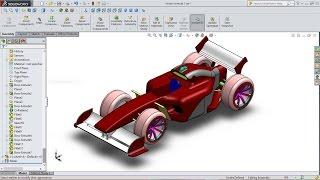 SolidWorks Ferrari formula one car modelling